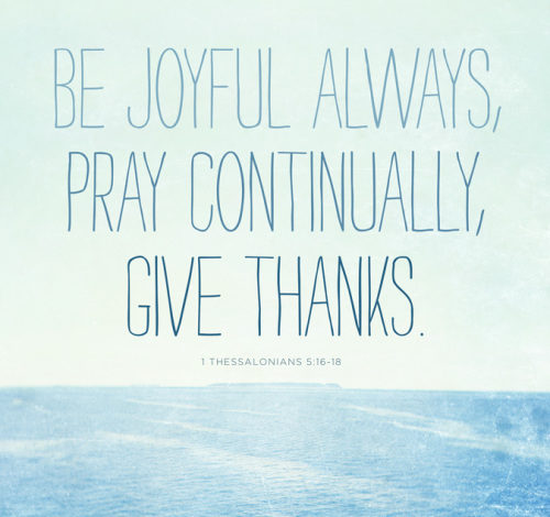 Have Joy and be Thankful