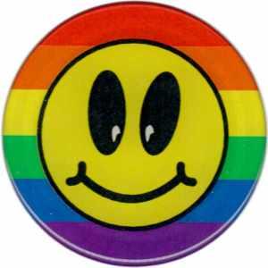 3D Rainbow Smiley Aufkleber