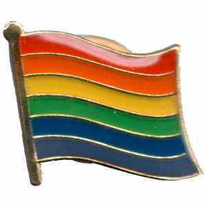 Rainbow Flaggen Pin 1.5 cm