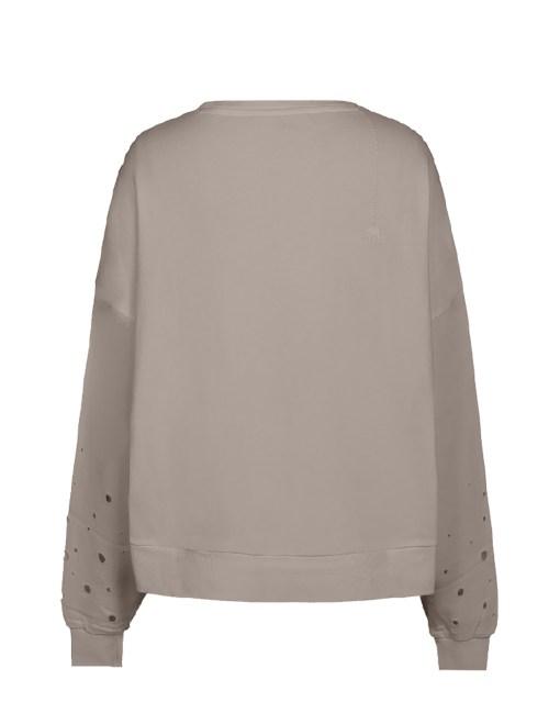Rundhals Sweatshirt mit Löchern