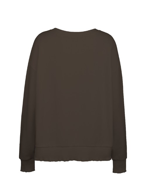 Basic Sweatshirt Rüschen Details