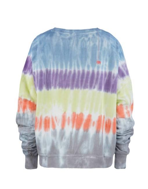 Bartik Sweatshirt mit gerafften Ärmeln Rückseite