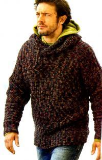 Теплые мужские кофты (свитеры)   Фото и Схемы с хорошим ...