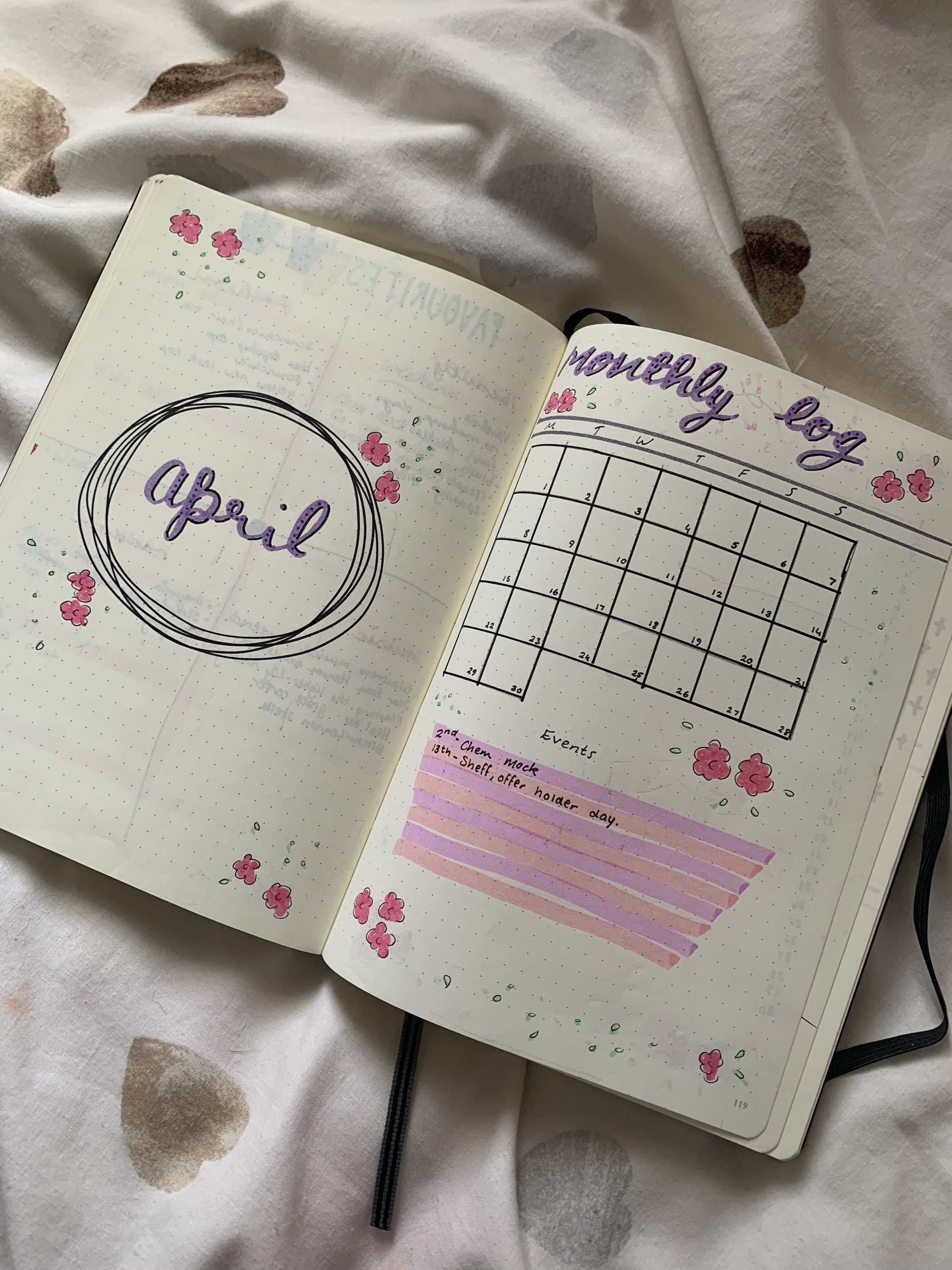 April bullet journal to provide inspiration for those starting a bullet journal