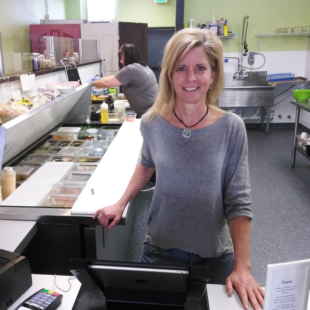 Tracie Reeves Hartman in kitchen