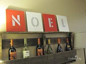 Frugal Friday: Noel Canvas Sign