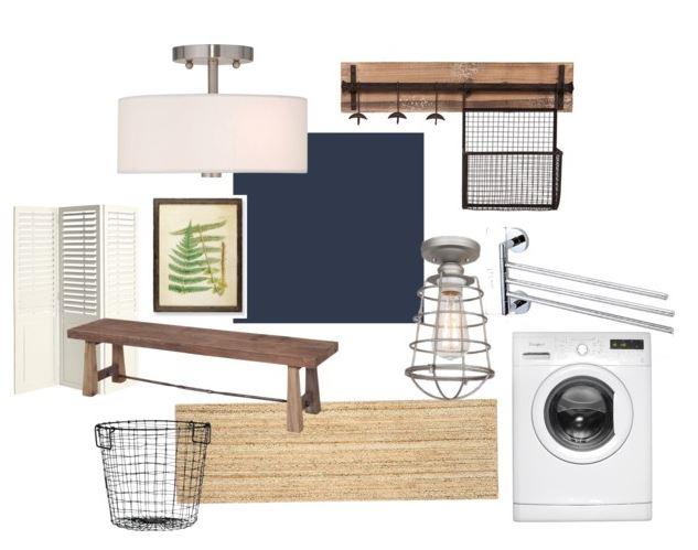 Modern Farmhouse Laundry room & Entry