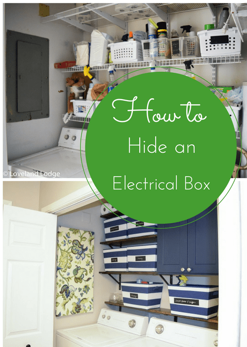 How to hide a large electrical box