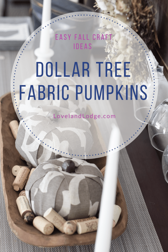 Dollar Tree Fabric Pumpkins - Easy Fall Craft Ideas