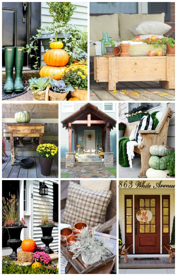 Rustic Fall Porch Tour featuring 8 bloggers and tons of fall inspiration