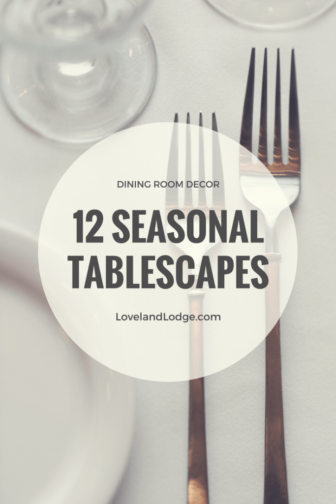 Centerpiece and tablescape ideas