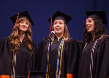 "Jane Pearson, Abby Hickey and Jacalyn Parsley singing ""Stop this Train""."