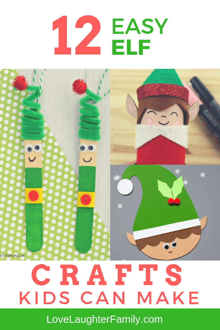 Check out these super fun Elf crafts kids can make at christmas. We have 12 awsome Elf crafts for you to try.