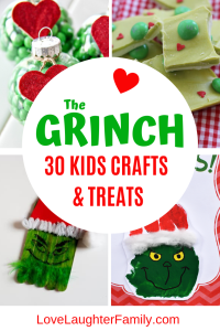 30 of the best The Grinch crafts and treat for kids to make this Christmas. The Grinch Crafts for kids. The grinch Christmas crafts and food.