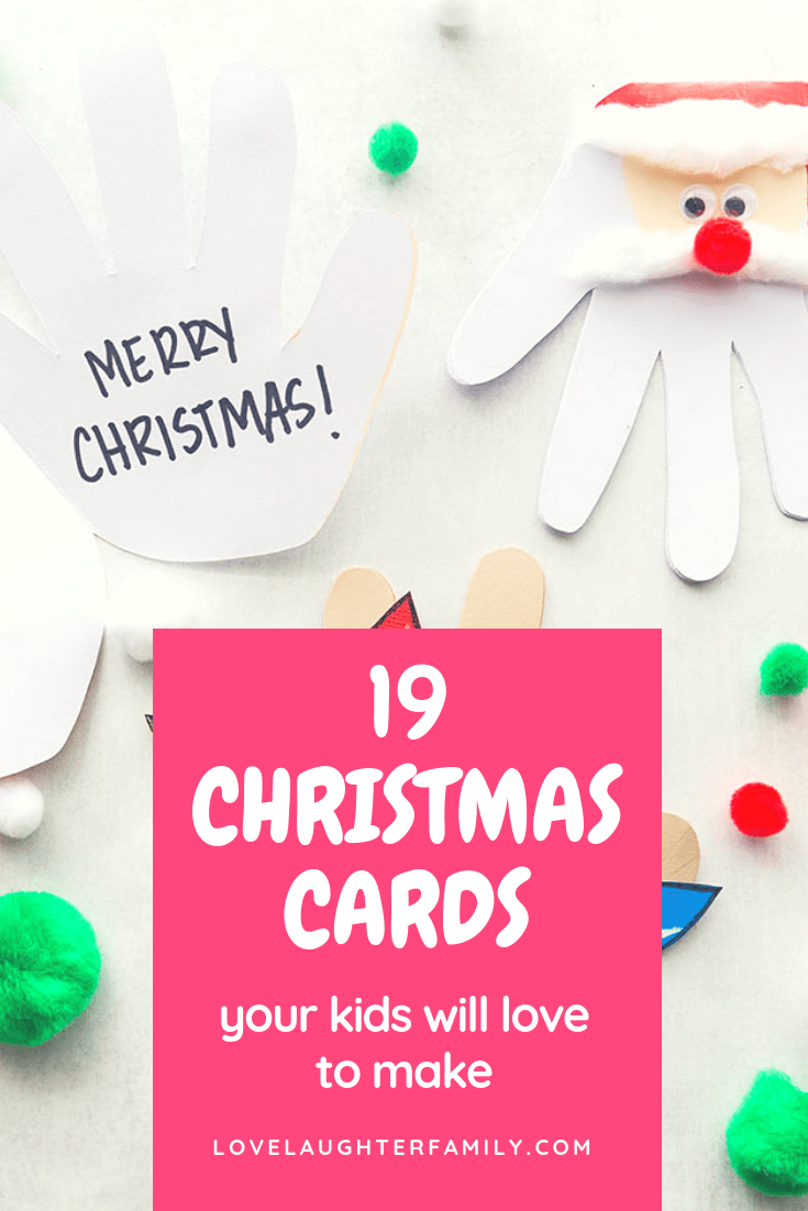 christmas cards kids can make simple
