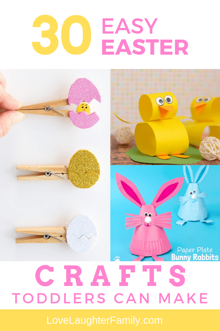 32 Easy Easter Crafts For Toddlers To Make   Love Laughter Family