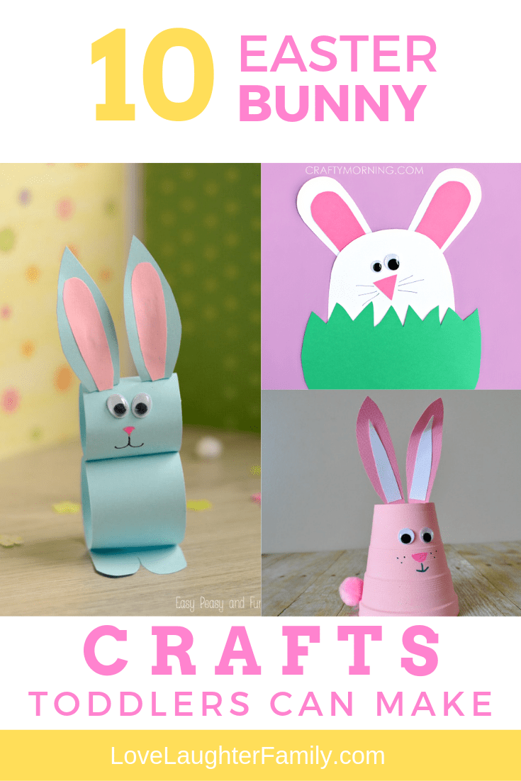 10 cute Easter Bunny crafts that you can make with your toddlers this Easter. Crafts that kids and toddlers can make.
