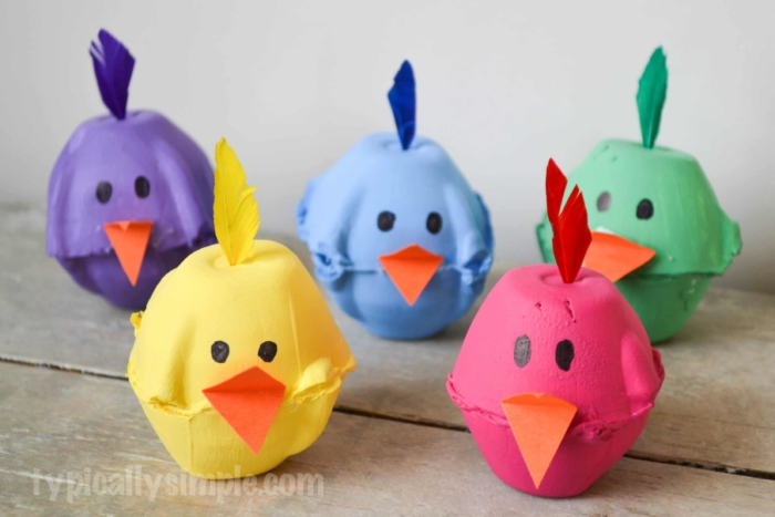 Eater crafts for kids and toddlers to make at Easter.