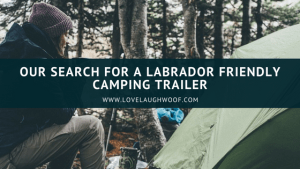 Our Search for a Labrador Friendly Camping Trailer