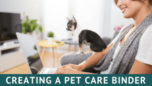 creating a pet care binder