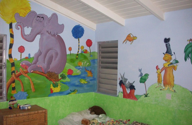 Dr. Seuss Room Murals
