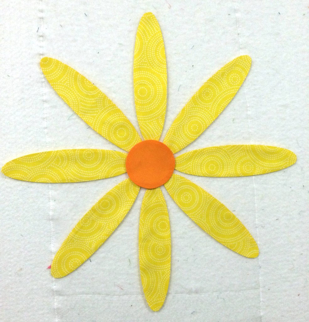 Freezer Paper Applique Daisy