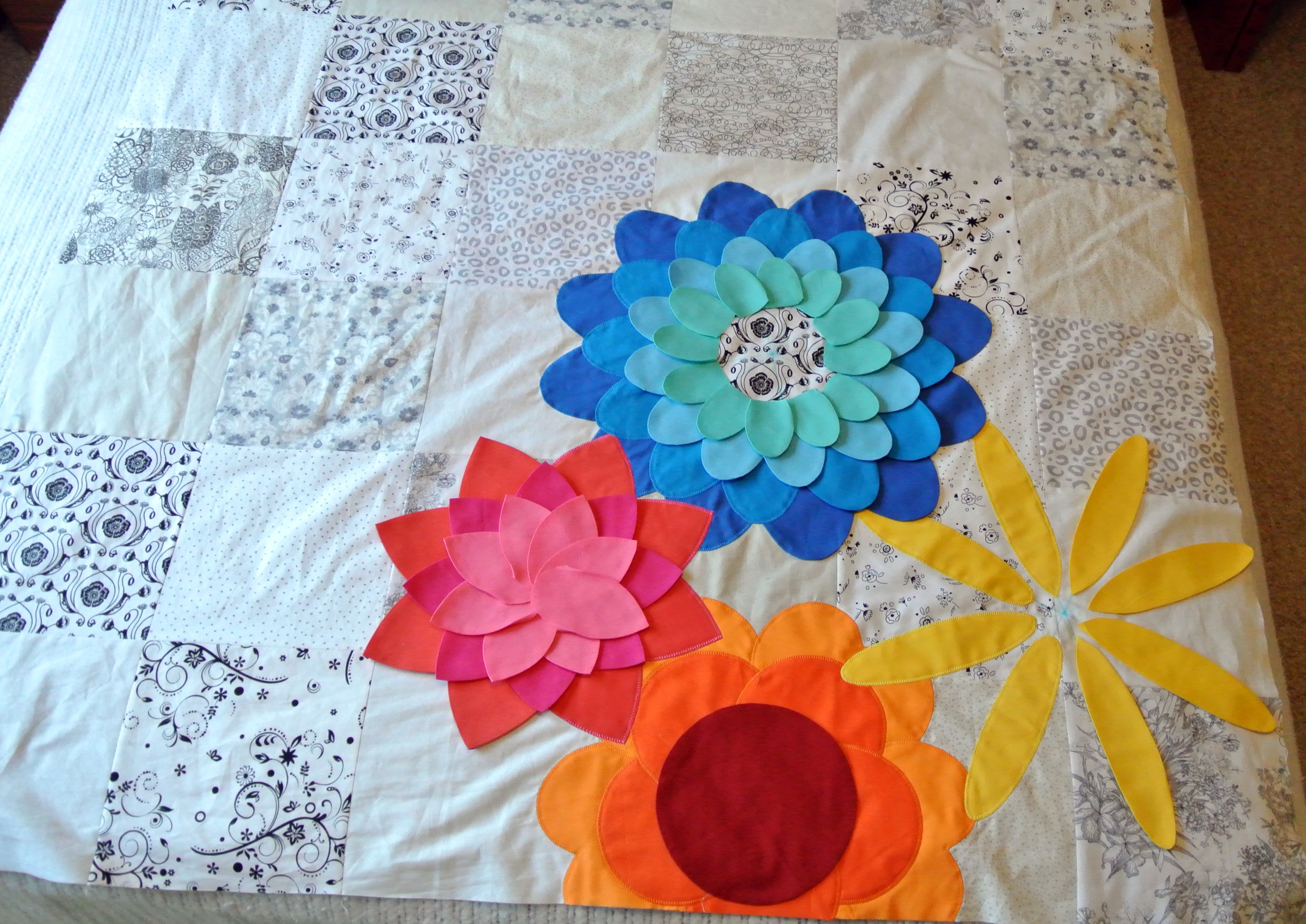 Flower Applique Quilt Patterns Unique Decorating Ideas