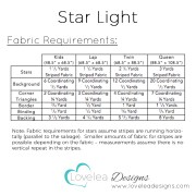 Star Light Fabric Requirements