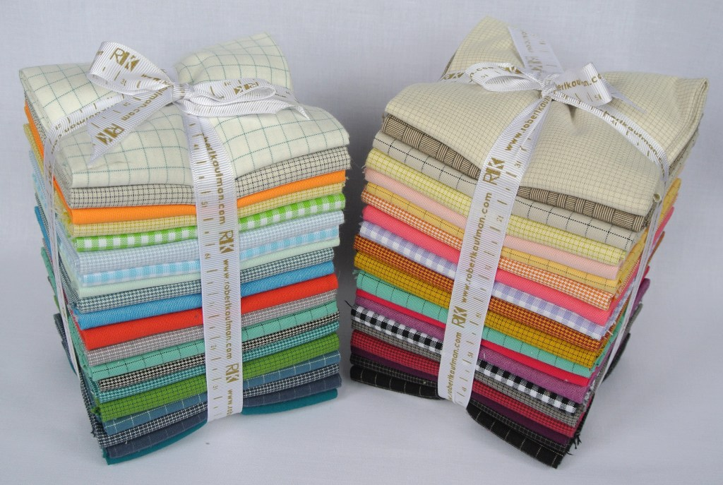 Assorted Solids and Yarn Dyes Fat Quarter Bundles