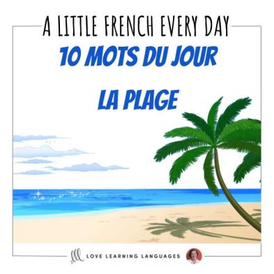 List of French vocabulary for the beach