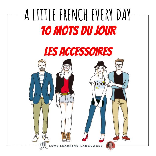 french vocabulary list accessories