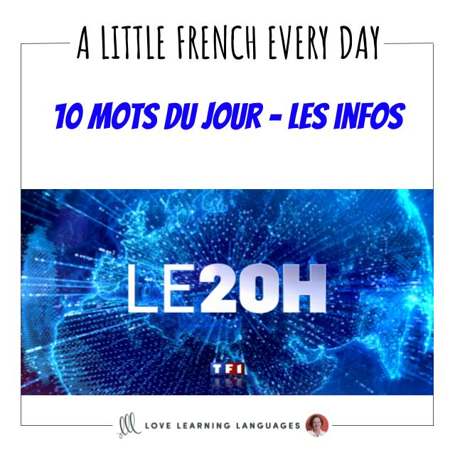 French Vocabulary list - 10 words about the news