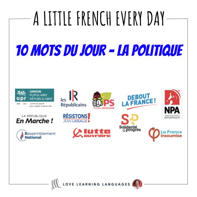 French Vocabulary list - 10 words about politics