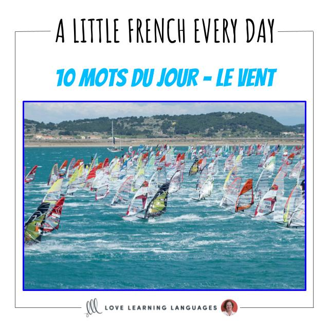 French Vocabulary list - 10 words about the wind