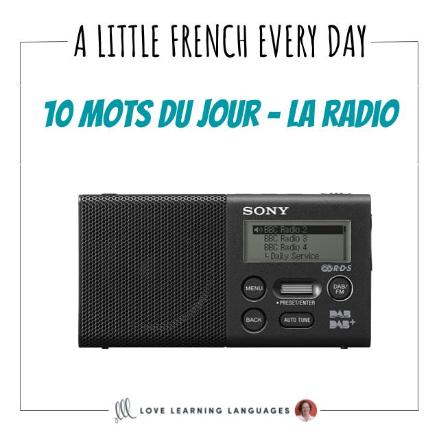 French Vocabulary list - 10 words about the radio