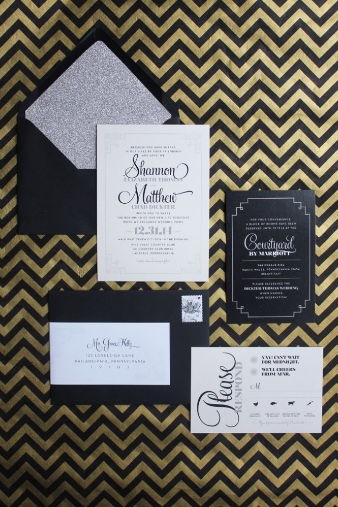 Appleberry Press Wedding Invitation