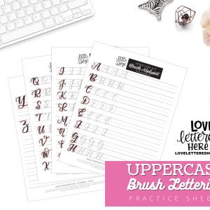 uppercase alphabet practice sheet
