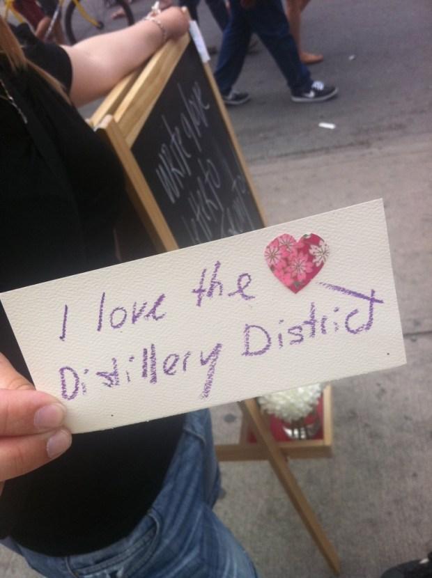 love lettering project, p.s. kensington, love, toronto, airmail envelope, the distillery district