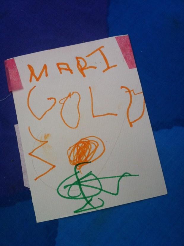 love lettering project, toronto, airmail envelope, ps kensington, marigolds, gardening