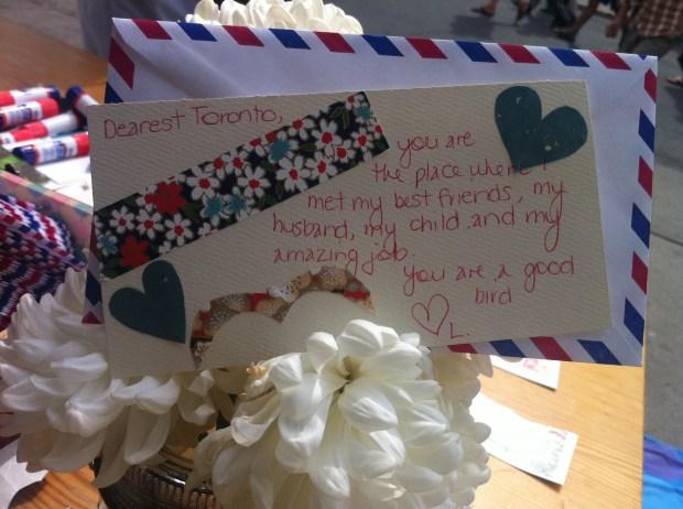 love lettering project, toronto, airmail envelope, ps kensington, love