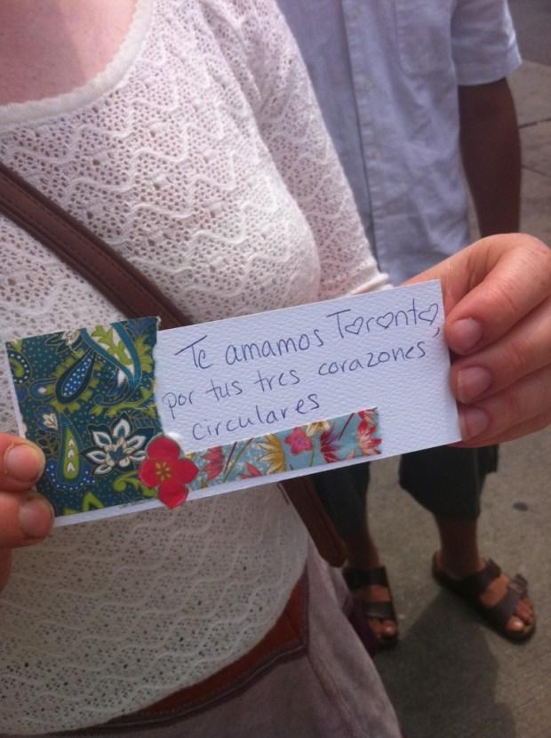 love lettering project, love, toronto, ps kensington, kensington market, may 27
