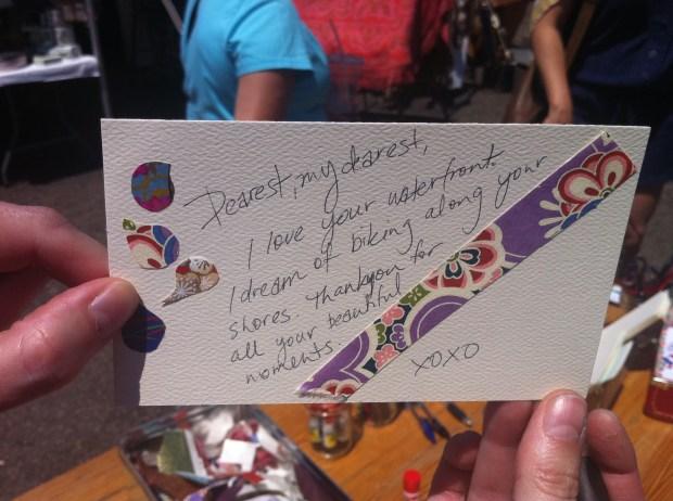 love lettering project, love, toronto, junction, junction flea market