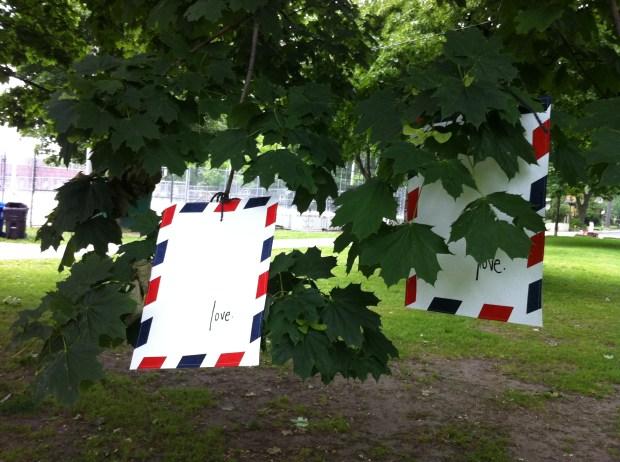 toronto, love, love lettering project, love letter, dufferin grove park