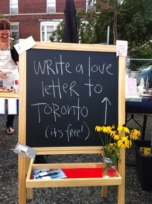 love, love lettering project, junction flea, junction, Toronto, August 13