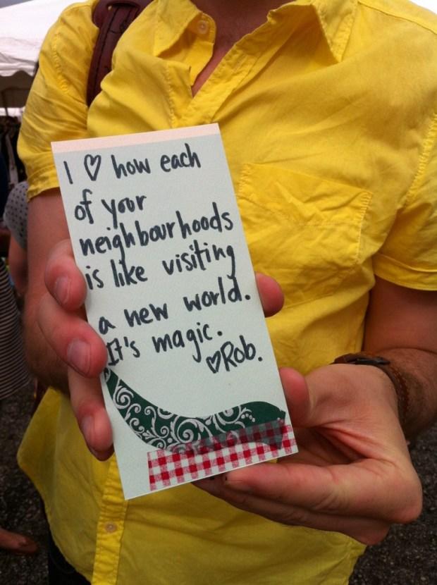 love lettering project, love, toronto, neighbourhoods