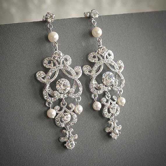 Etsy Shop GlamorousBijoux Vintage Inspired Pearl Bridal