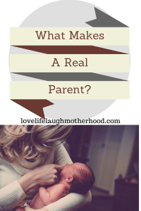 "How I delt with the offhand comment that ""In order to be a REAL PARENT, you must have more than one child..."""