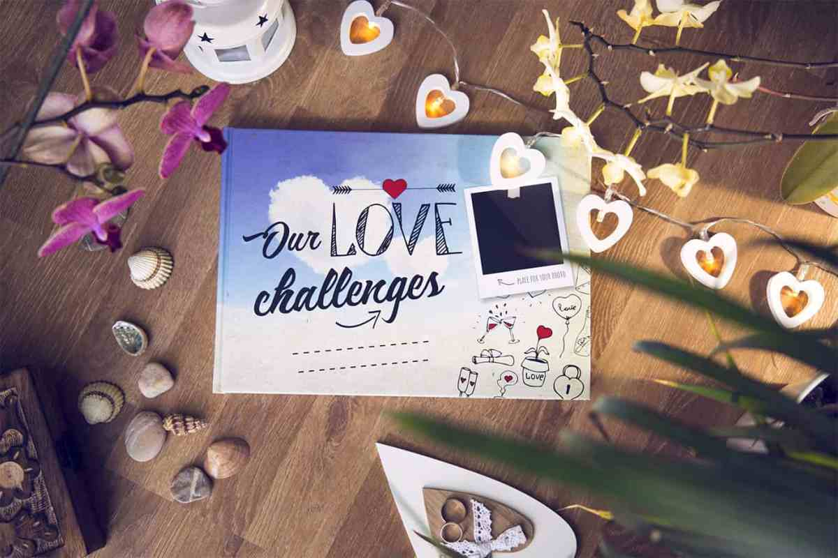 """Our Love Challenges"" Interactive Scrapbook for Couples"