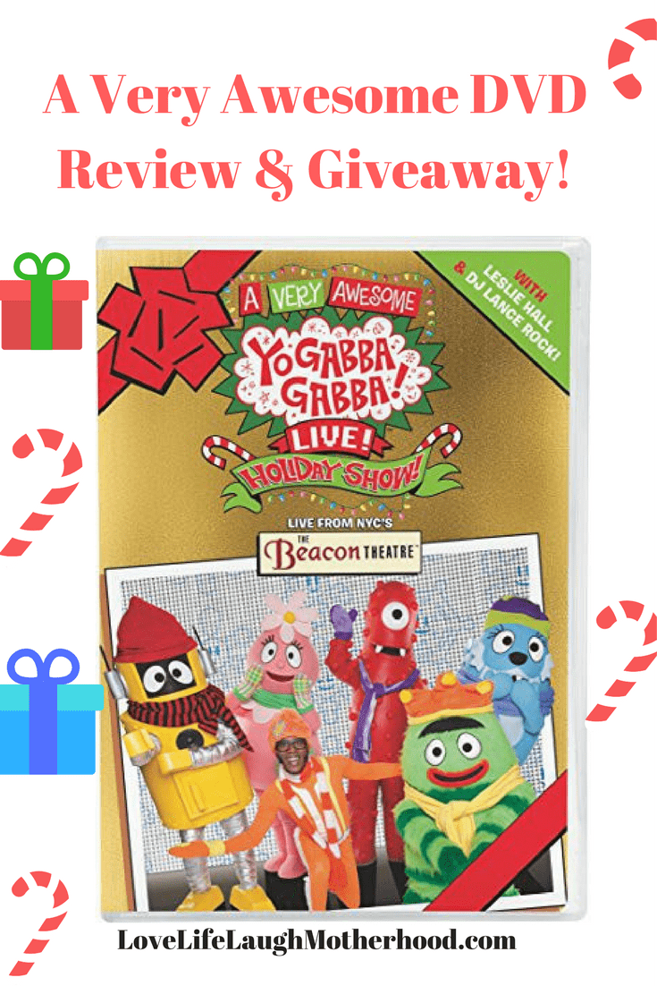 A Very Awesome Yo Gabba Gabba! Live! Holiday Show DVD Review & Giveaway #yogabbagabba #holidayshow #christmas