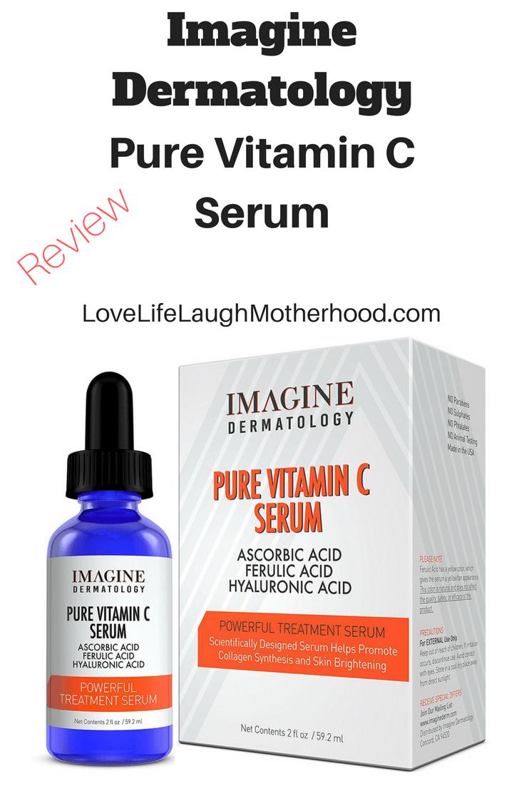 Imagine Dermatology Pure Vitamin C Serum Review #vitamincserum #skincare #vitaminc
